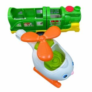LOT 2 Fisher Price Little People Helicopter Train